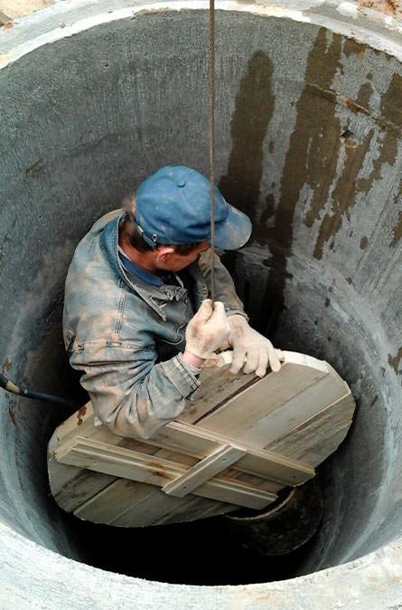 Как мы выполняем чистку колодца в Чеховском районе