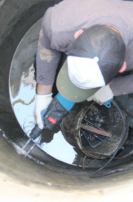 Как мы выполняем ремонт колодцев в Чеховском районе